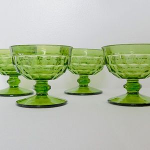Emerald Green Dessert Glasses- set of 4